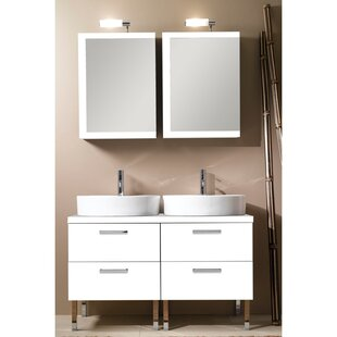 Aurora 45 Double Bathroom Vanity Set with Mirror by Iotti by Nameeks