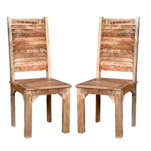 Kamp Rustic Solid Wood Dining Chair (Set of 2) Bloomsbury Market