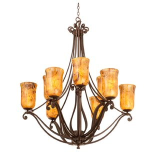 Kalco Somerset 9-Light Shaded Chandelier
