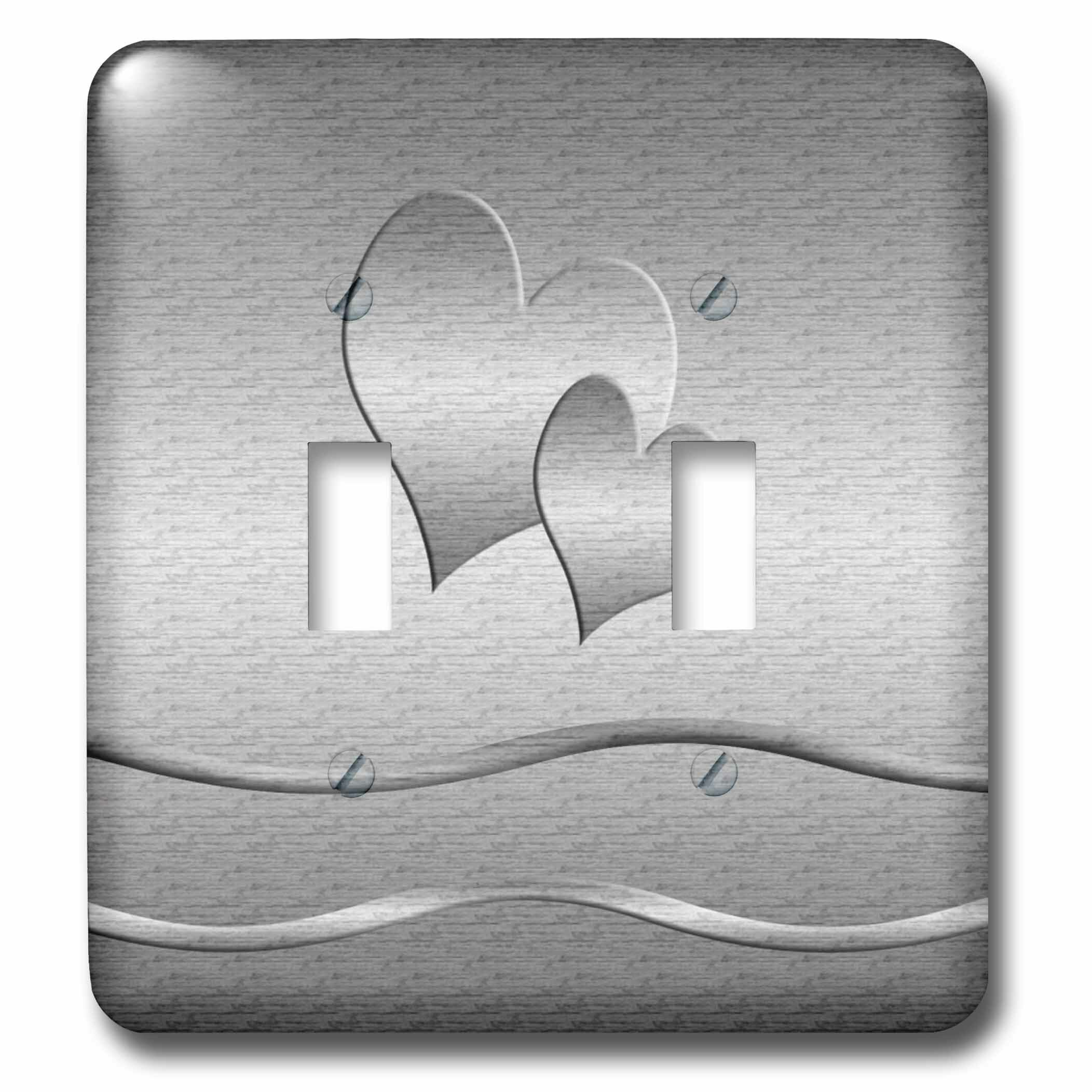 3drose Hearts 2 Gang Toggle Light Switch Wall Plate Wayfair