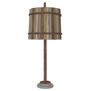 Best Reviews Hulbert Rope 32 Table Lamp with Painted Base By Highland Dunes