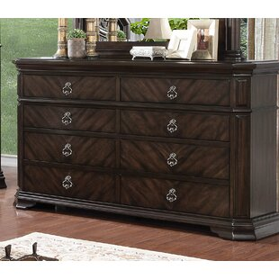 Rudisill 8 Drawer Double Dresser
