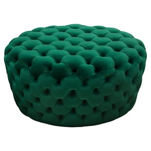 Posh Tufted Pouf by Diamond Sofa