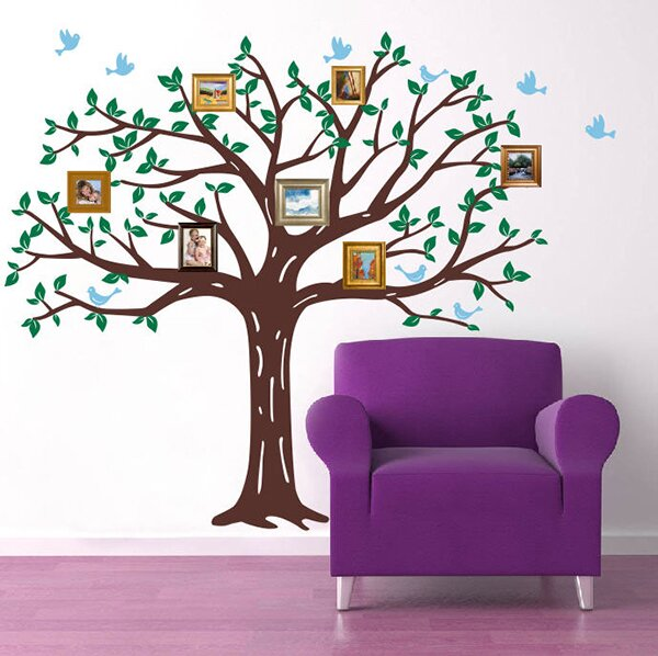 Family Photo Tree Wall Decal