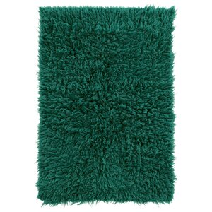 Tyndalls Park Hand-Woven Green Area Rug