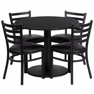 Laux Round Laminate 5 Piece Dining Set by Ebern Designs