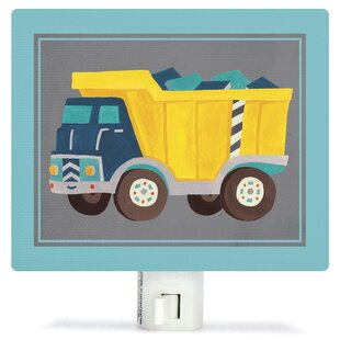 Oopsy Daisy Transportation Dump Truck by Irene Chan Canvas Night Light