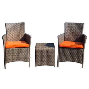 Mike 3 Piece 2 Person Seating Group with Cushions