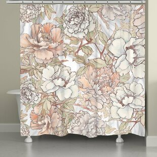 Alyda Blushing Peonies Single Shower Curtain