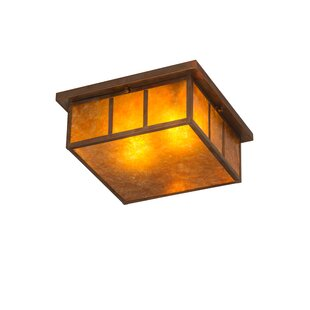 Coupon Almont 2-Light Outdoor Flush Mount By Bloomsbury Market