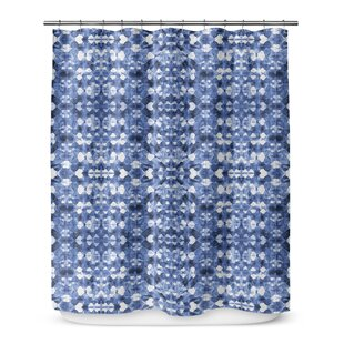Shibori Mirror Single Shower Curtain