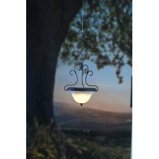 Plow & Hearth Scrollwork Solar 1-Light Outdoor Pendant