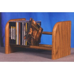 100 Series 26 CD Dowel Multimedia Tabletop Storage Rack by Wood Shed Wonderful