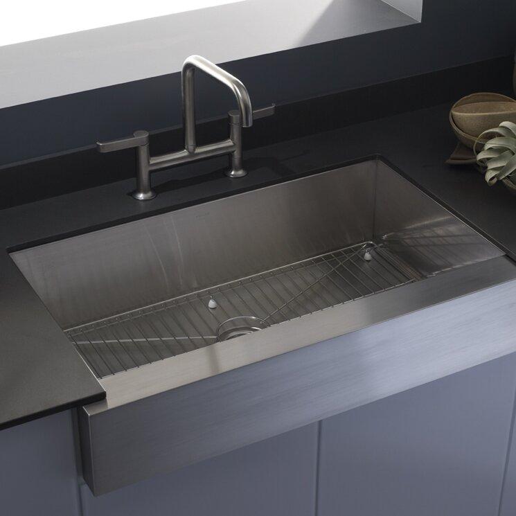 Genial K 3943 NA Vault Farmhouse Single Bowl Kitchen Sink