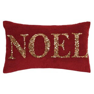 Sorrento Holiday Beaded 100% Cotton Throw Pillow