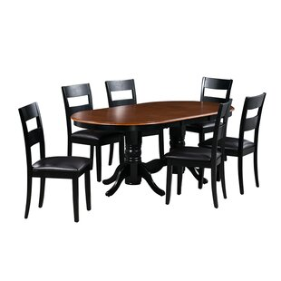 Dahlberg 7 Piece Extendable Solid Wood Dining Set August Grove