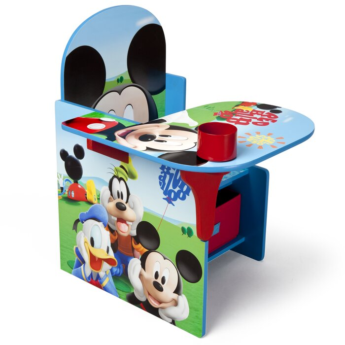 Incredible Mickey Kids Study Desk And Chair Set Theyellowbook Wood Chair Design Ideas Theyellowbookinfo