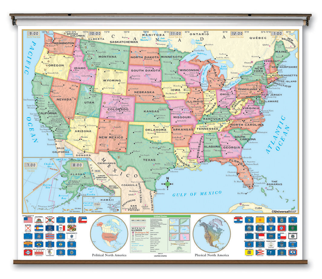 Universal map wayfair essential wall map united states gumiabroncs Gallery