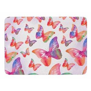 Butterfly by Li Zamperini Bath Mat