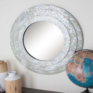 Affordable Wood Mosaic Wall Mirror By Cole & Grey