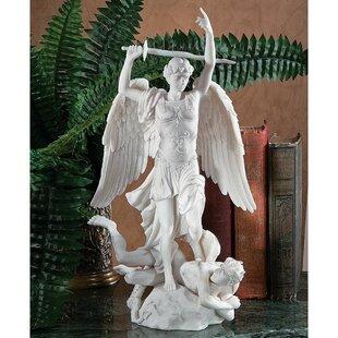 Design Toscano L'Archange Saint Michel (1860) Bonded Marble Angel Statue