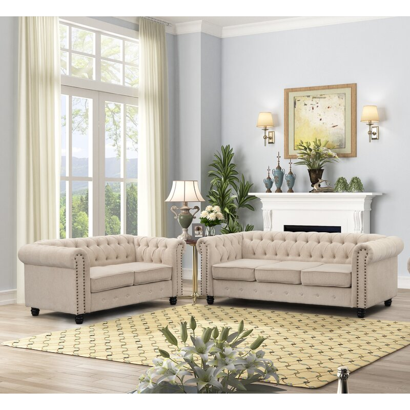 Locascio 2 Piece Standard Living Room Set
