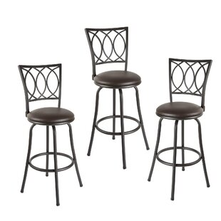Spokane Adjustable Height Swivel Bar Stool (Set of 2)