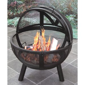 Attractive Ball Of Fire Steel Wood Burning Fire Pit Pertaining To Portable Outdoor Fireplace