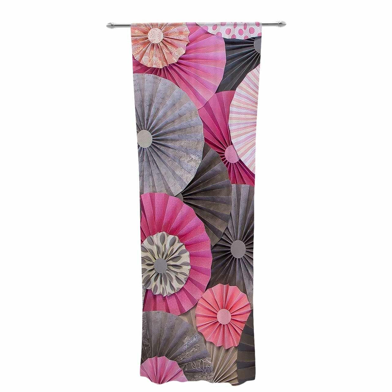 East Urban Home Heidi Jennings Bubble Gum Decorative Graphic Print Text Sheer Rod Pocket Curtain Panels Wayfair