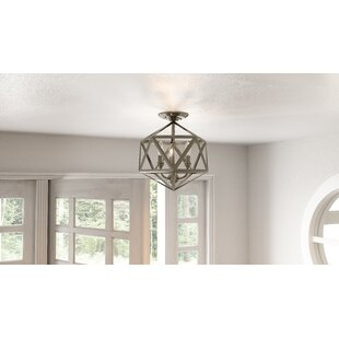 Waldrop 3-Light Semi Flush Mount by Breakwater Bay