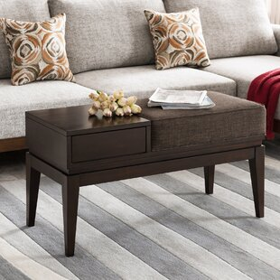 Crandell 1 Drawer Coffee Table with Storage by George Oliver