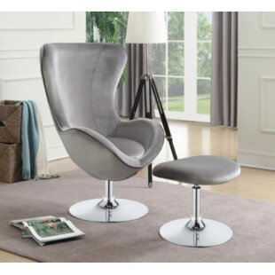 Compare prices Dansby Swivel Armchair and Ottoman by Orren Ellis Reviews (2019) & Buyer's Guide