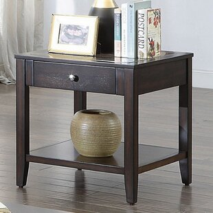 Hanna End Table by Alcott Hill