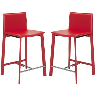 Miraculous Wade Logan Tripp 24 Bar Stool Color Red Cjindustries Chair Design For Home Cjindustriesco