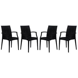 Quade Stacking Patio Dining Chair (Set of 4)
