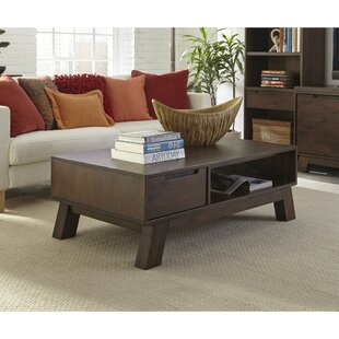 Renita Wooden Coffee Table with Storage by Corrigan Studio