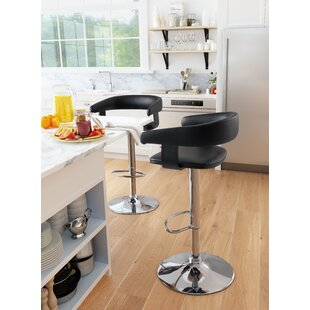 Socrates Adjustable Height Bar Stool by Orren Ellis