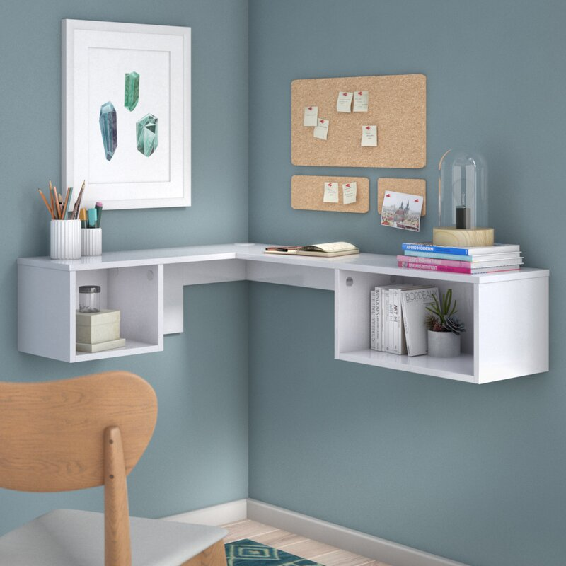 chaves wall mount corner desk reviews birch lane