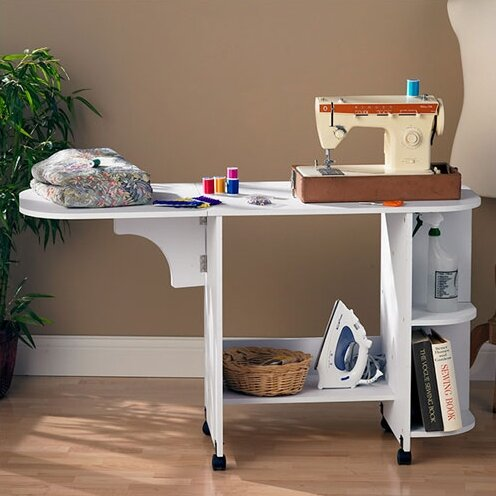 Wildon Home Bangalore Sewing Table In White Reviews Wayfair