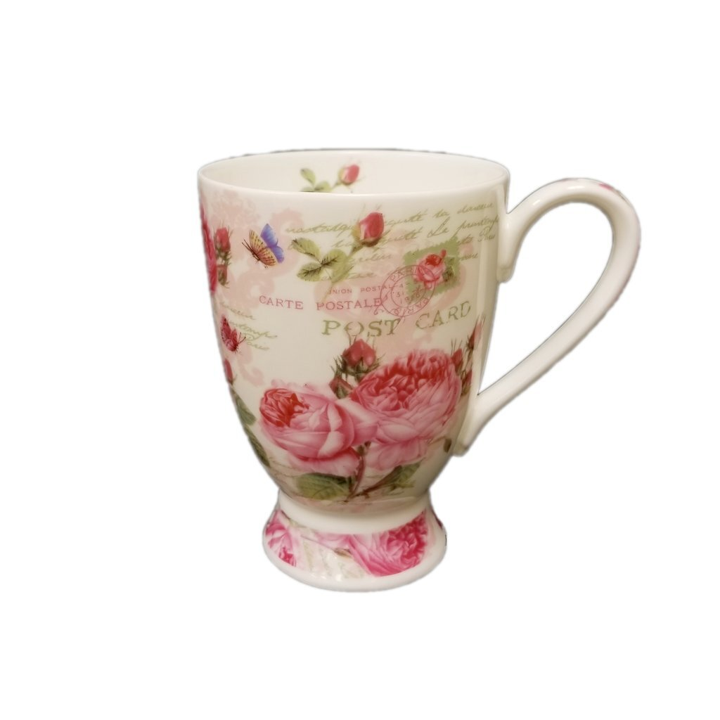 August Grove Cordon English Rose Coffee Mug Wayfair