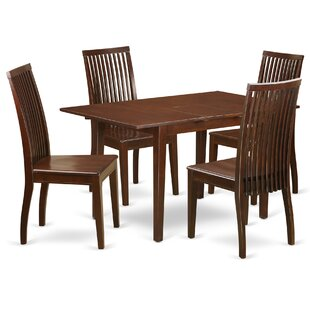 Jovany 5 Piece Solid Wood Dining Set by Charlton Home