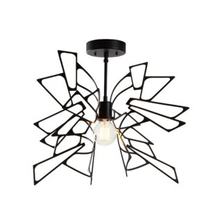Deutsch 1-Light Semi Flush Mount by Brayden Studio