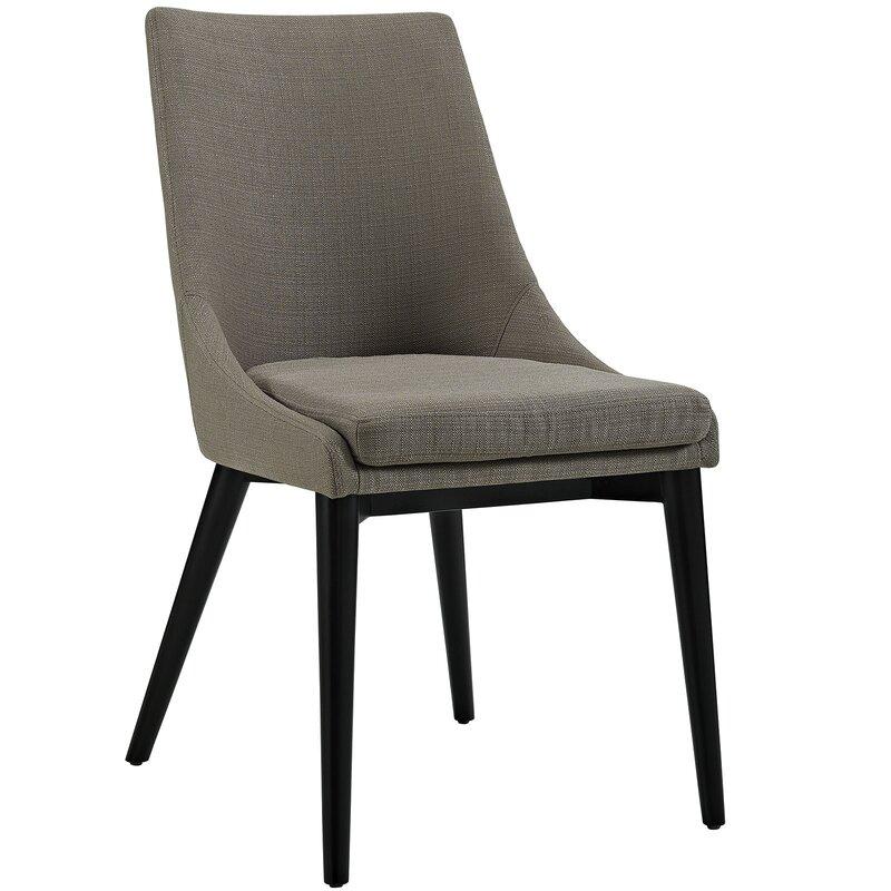Corrigan Studio Carlton Wood Leg Upholstered Dining Chair