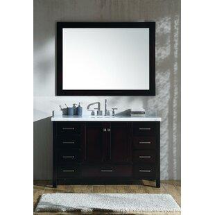 Marine 55 inch  Single Rectangle Bathroom Vanity with Mirror