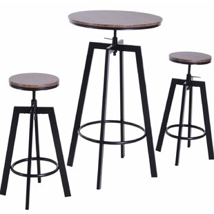 Unruh 3 Piece Adjustable Pub Table Set by Williston Forge Today Only Sale