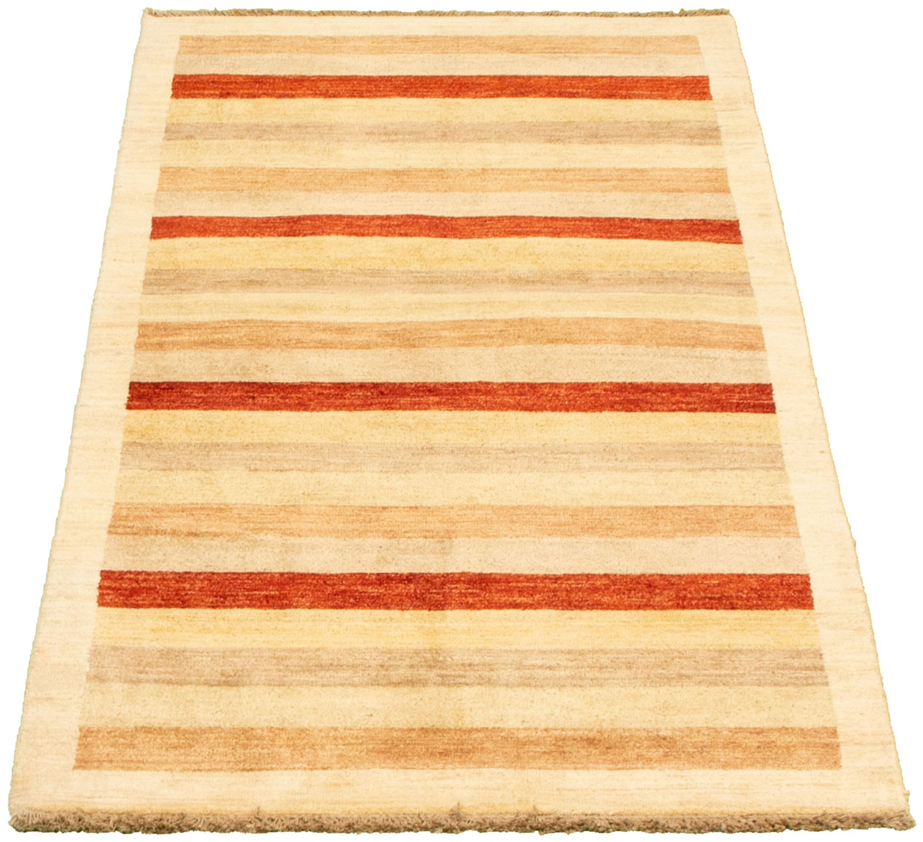 Ebern Designs One Of A Kind Addingham Striped Hand Knotted Runner