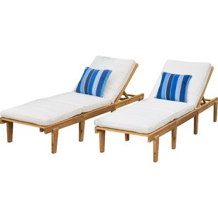 ardsley reclining chaise lounge with cushion set of 2 - Chaise Table