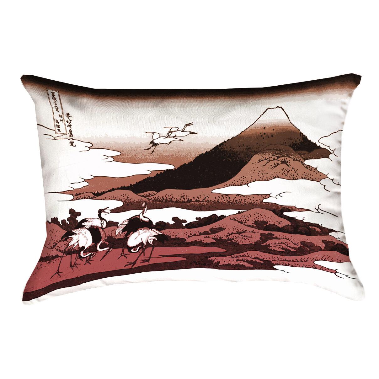 Bloomsbury Market Montreal Japanese Cranes Rectangular Double Sided Print Lumbar Pillow Wayfair