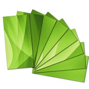 Custom 3 inch  x 6 inch  Beveled Glass Subway Tile in Green