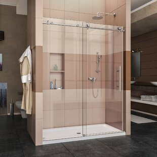 Compare & Buy Enigma-X 60 x 76 Single Sliding Frameless Shower Door with Clearmax™ Technology By DreamLine